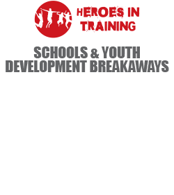 HEROES IN TRAINING - Schools & Youth Development Breakaways - 'A cutting edge character, leadership & potential development program for young adults.' A top level Outdoor Adventure Program that is Grade specific and is coupled with a Dynamic Leadership Program that not only builds spirit and relationships within the school, but equips learners to be life-long leaders.