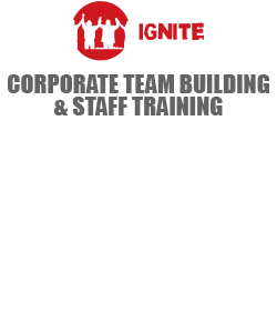IGNITE - CORPORATE TEAM BUILDING & STAFF TRAINING - 'Developing high performance corporate teams, igniting potential & inspiring leaders' Facilitating real relational development, team work, change management & growth.